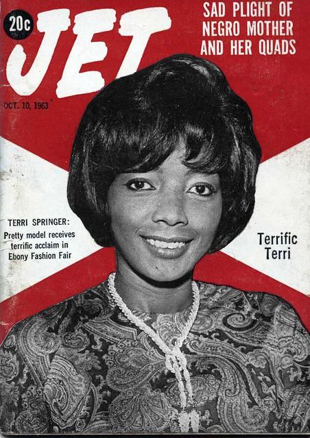 Ebony Fashion Fair Model Terri Springer Covers Jet Magazine - Jet Magazine, October 10, 1963