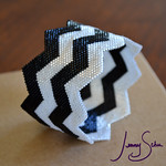 Chevron Bangle by Jenny Schu (sold, made to order)