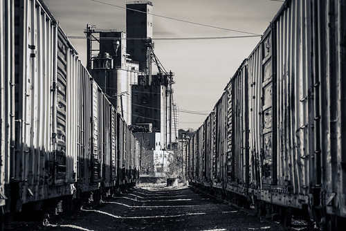 urban blackandwhite usa monochrome train landscape manchester industrial monotone richmond va boxcar railyard boxedin