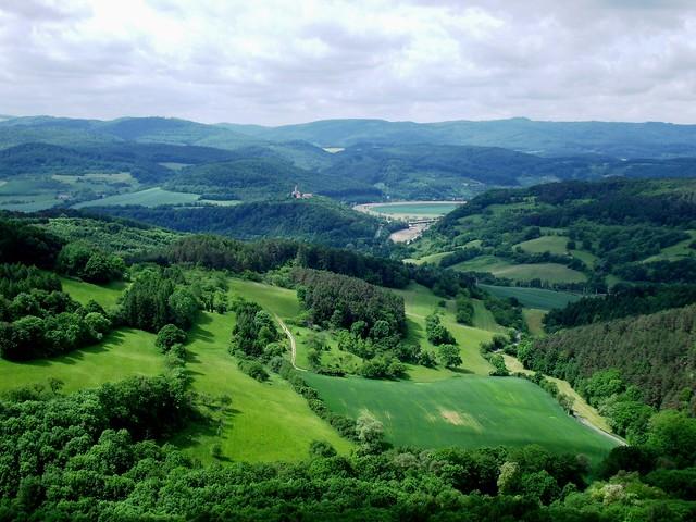 View from Hanstein Castle ruin / Blick von der Burgruine Hanstein
