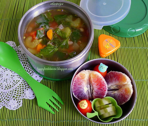 Tuscan Kale Vegetable Bean Soup Bento | by sherimiya ♥