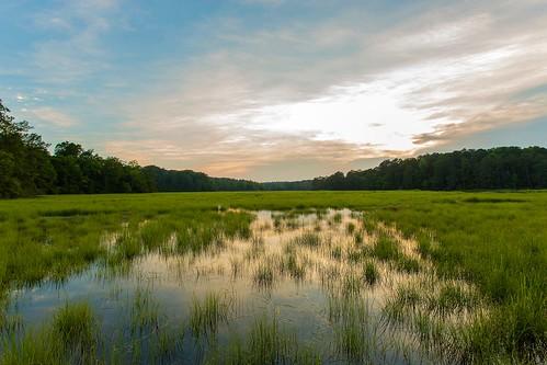 sunset water dusk williamsburg marsh williamsburgva