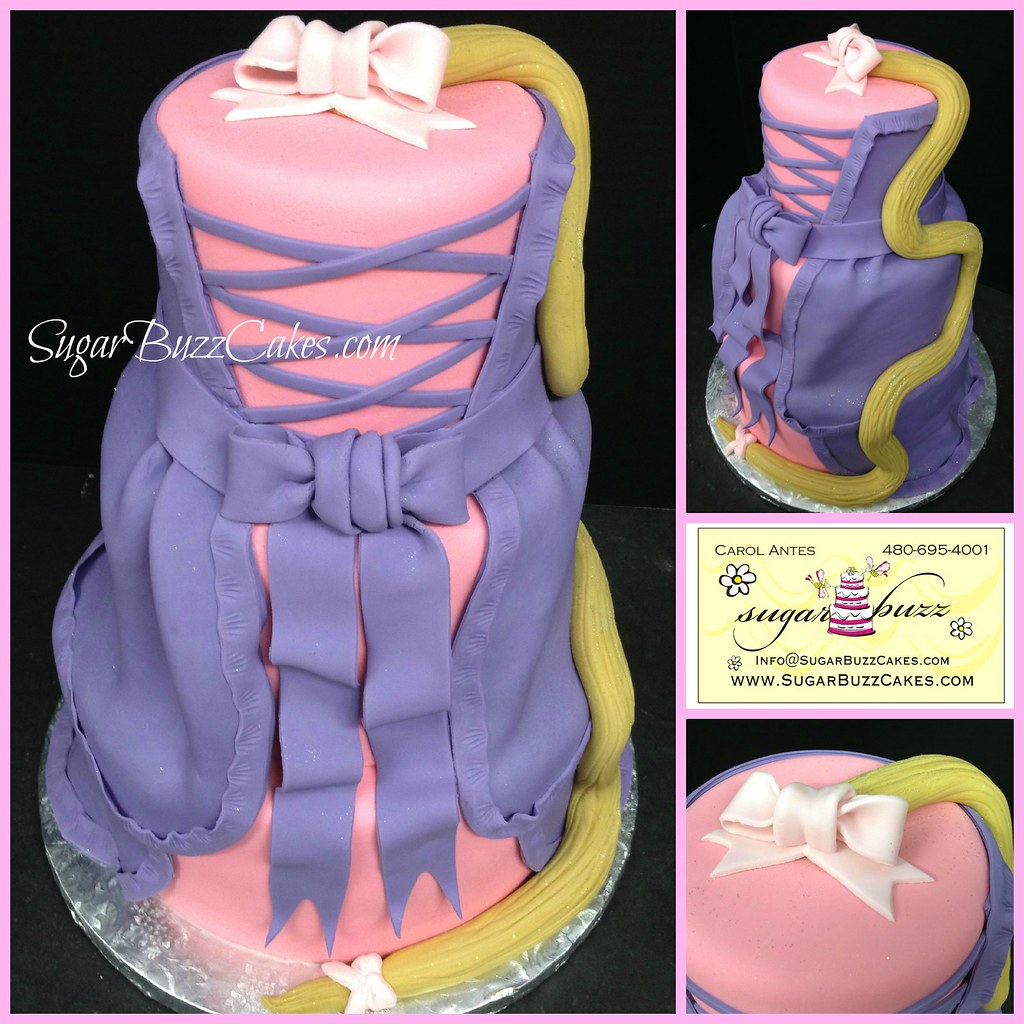 Astonishing Rapunzel Birthday Cake Carol Flickr Birthday Cards Printable Inklcafe Filternl