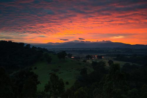 night sunrise river dawn cloudy australia victoria valley yarra wongapark