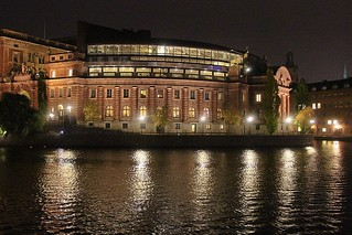 Swedish Parliament by night | by Infomastern
