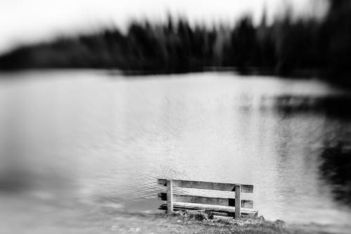 blackandwhite bench water lake monochrome bw pacificnorthwest nature canon lensbaby pnw blur canoneos5dmarkiii