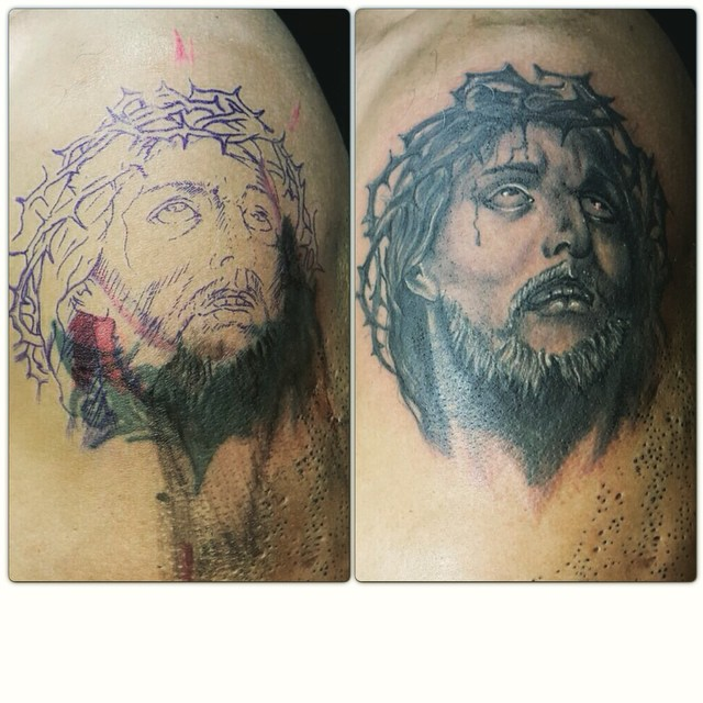 cover #coverup #covertattoo #jesus #god #tattoo #tattoos