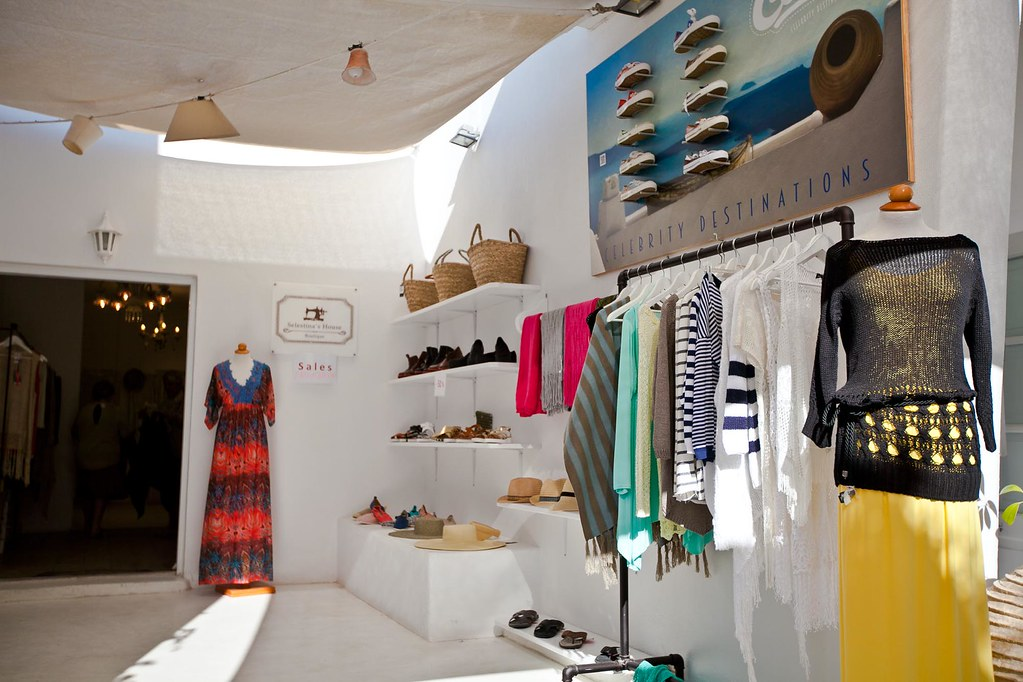 A beautiful boutique in Santorini.