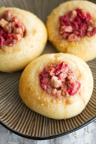 Strawberry-Rhubarb Streusel Buns | by Isabelle @ Crumb