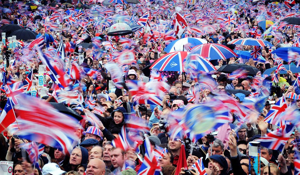 Crowd at Buckingham Palace for Diamond Jubilee Celebrations in 2012