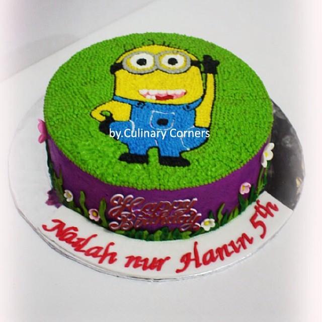 Minion Cake Buttercream Birthdaycake Birthdayparty