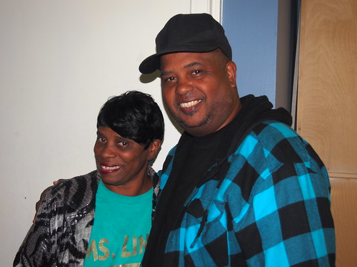 Lady Rollers President Linda Green and Action Jackson