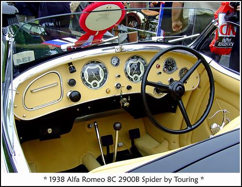 1938 Alfa Romeo 8c 2900b Interior