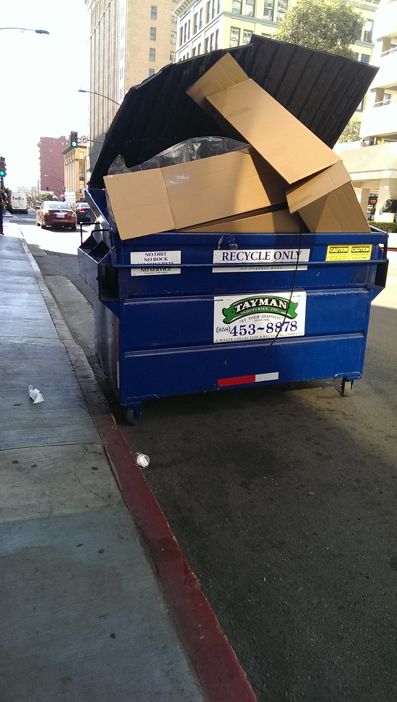 Tayman Recycling Dumpster | Tayman dumpster in downtown san