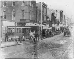 1889 horse car at the intersection of Wisconsin Avenue and O Street NW