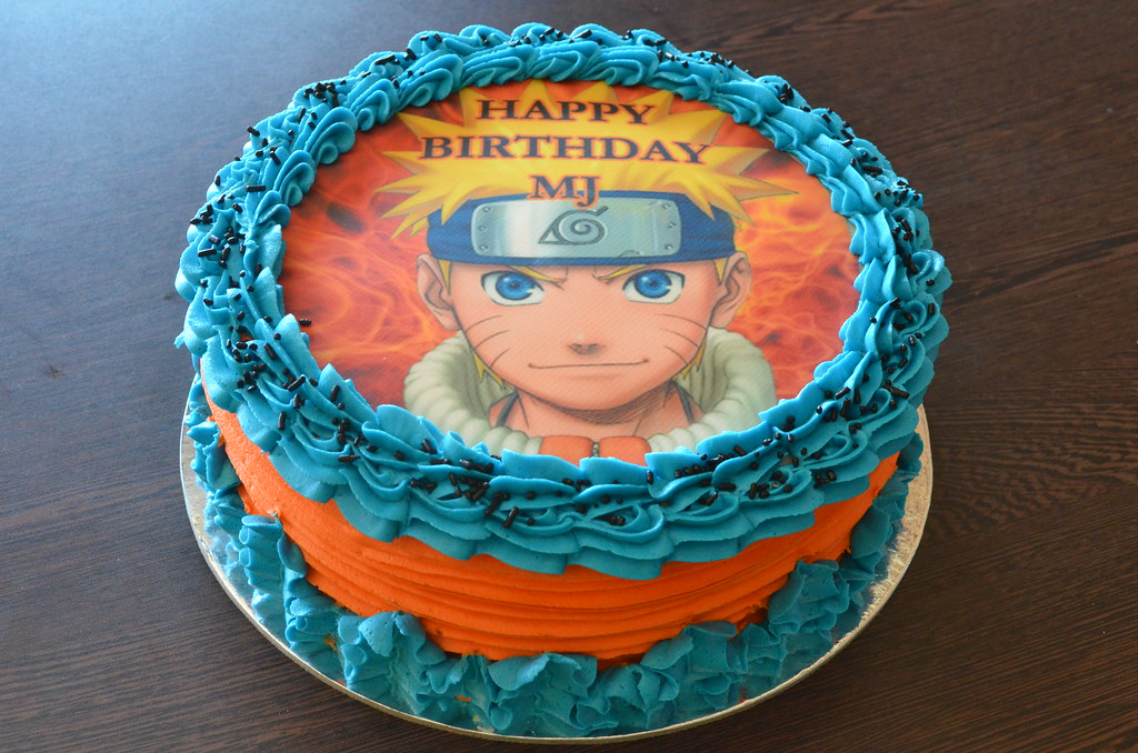 Admirable Naruto Birthday Cake Cupcakes By Paolo Flickr Personalised Birthday Cards Sponlily Jamesorg