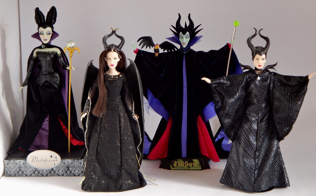 Animated Vs Live Action Maleficent Dolls Side By Side Co