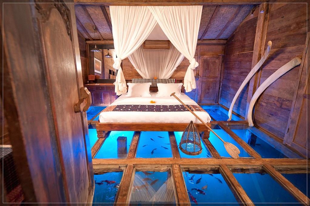 unique bedroom ideas, glass floor aquarium bedroom | Flickr