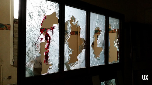Smashed windows and paint | by urbexploreuk