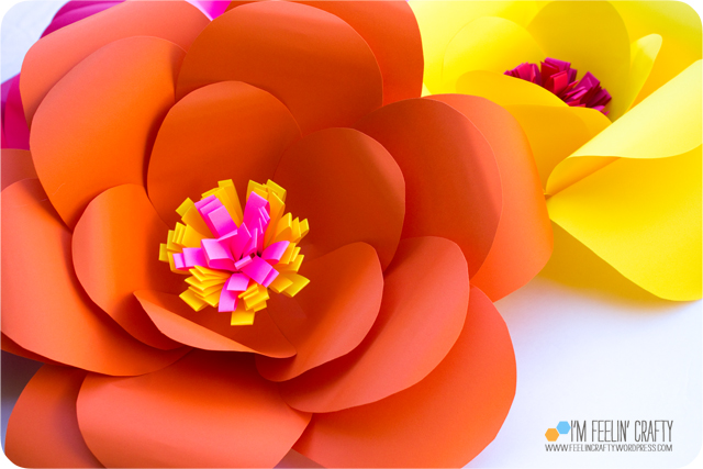 PaperFlowers-Orange-ImFeelinCrafty