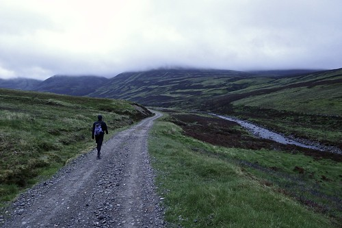 Track through Glen Bruar   by Nick Bramhall