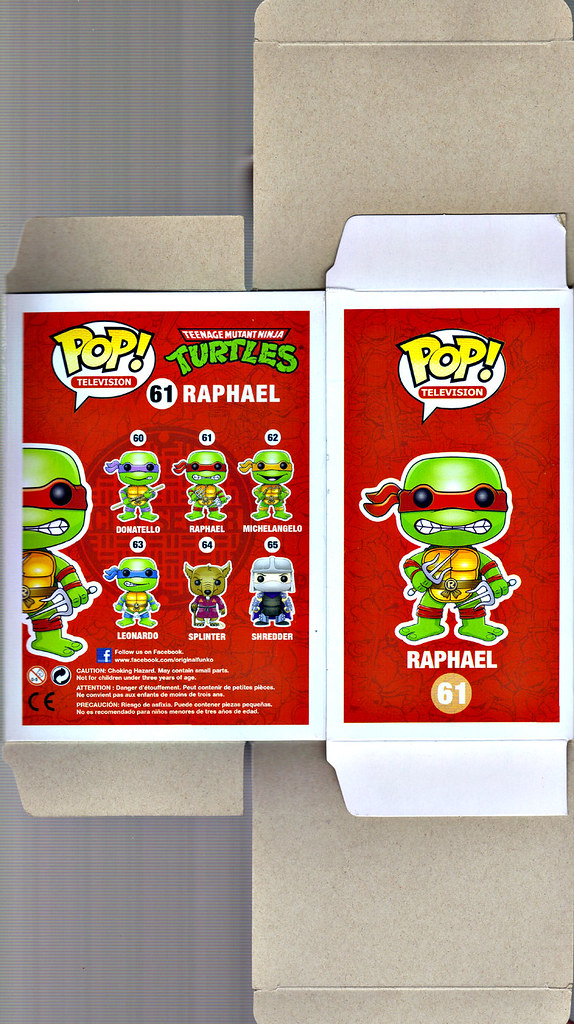 "FUNKO 'POP TELEVISION' :: TEENAGE MUTANT NINJA TURTLES - ""RAPHAEL"" #61 ;  Limited SDCC Exclusive Vynil Figure ..box i (( 2012 )) by tOkKa"