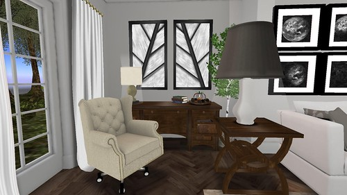 Park Place Home Decor, Ashford LR (Desk & Chair) | by Hidden Gems in Second Life (Interior Designer)