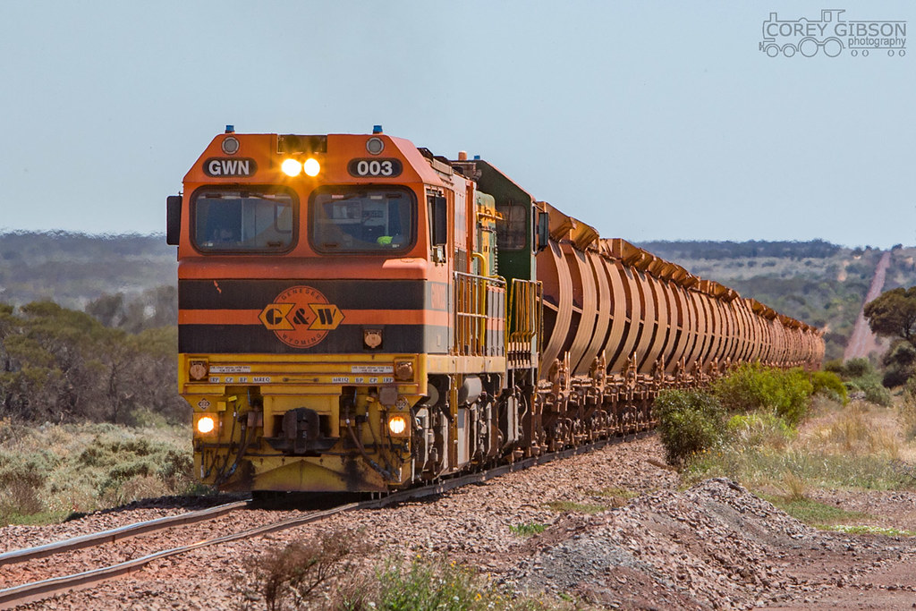 GWN003 & CK3 with a loaded Iron Ore train from Iron Baron by Corey Gibson