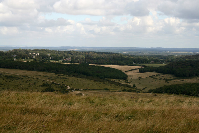 View inland to Lulworth Castle