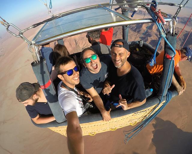 En globo por Wadi Rum
