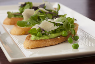 Spring Pea Crostini with Mint | by kurmanstaff
