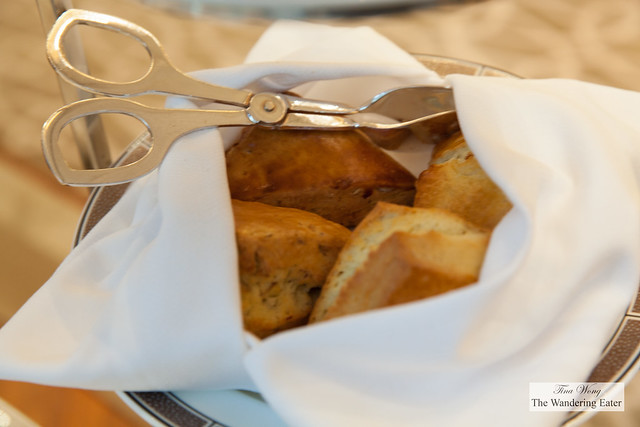 Fresh baked scones - plain and almond