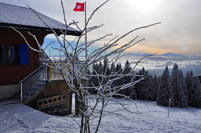 Winter in Swiss mountains