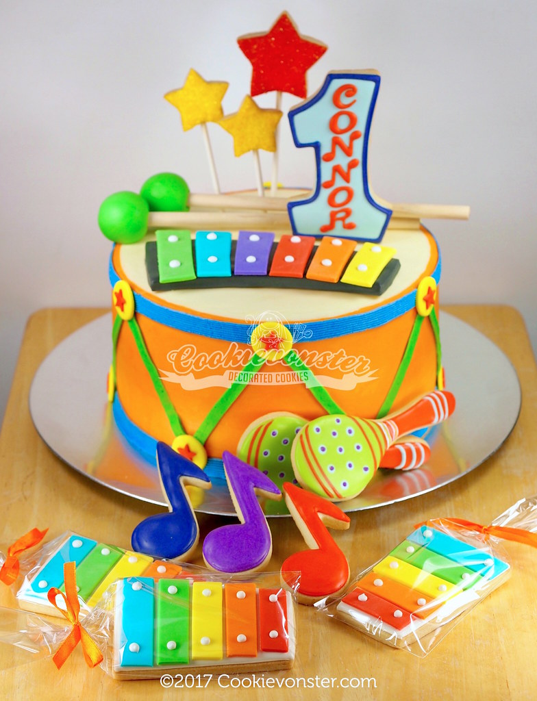 Admirable Connors First Music Themed Birthday Party Cookie Decorate Flickr Funny Birthday Cards Online Alyptdamsfinfo