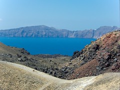 Santorini seen from Nea Kameni (Santorini, Greece)