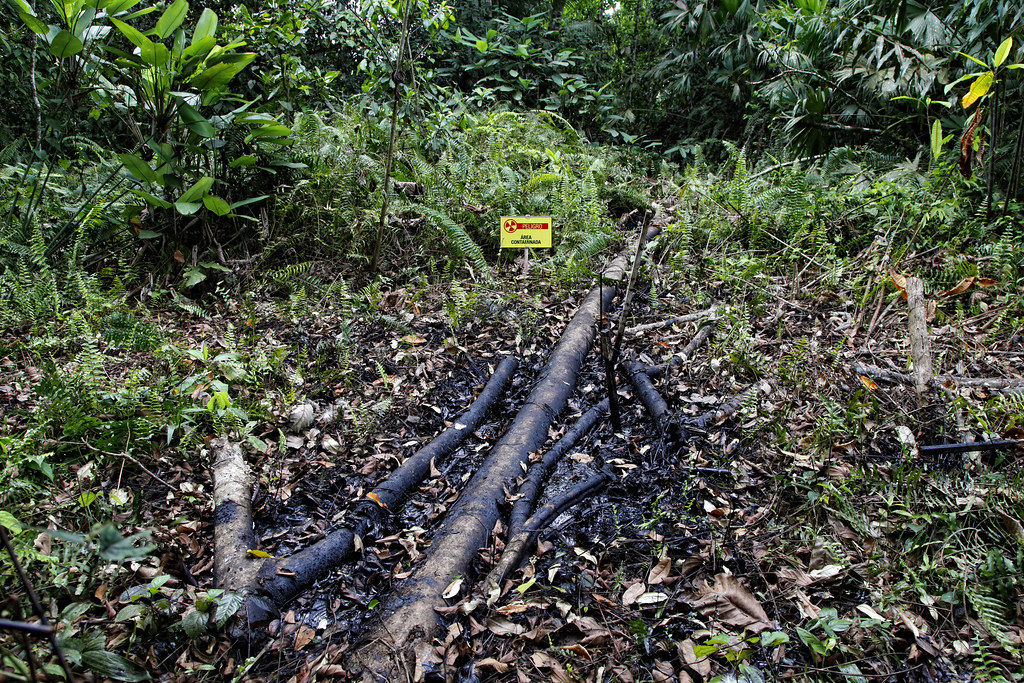 photo of chevron oil damage Ecuador