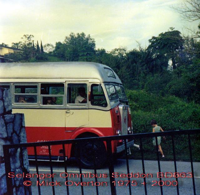 School bus Selangor Omnibus co 1955 Seddon Mark VI BD863