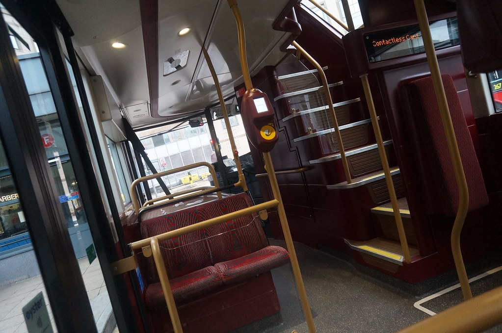 New LONDON BUS INSIDE has 3 DOORS 4 passengers SO smooth 2… | Flickr