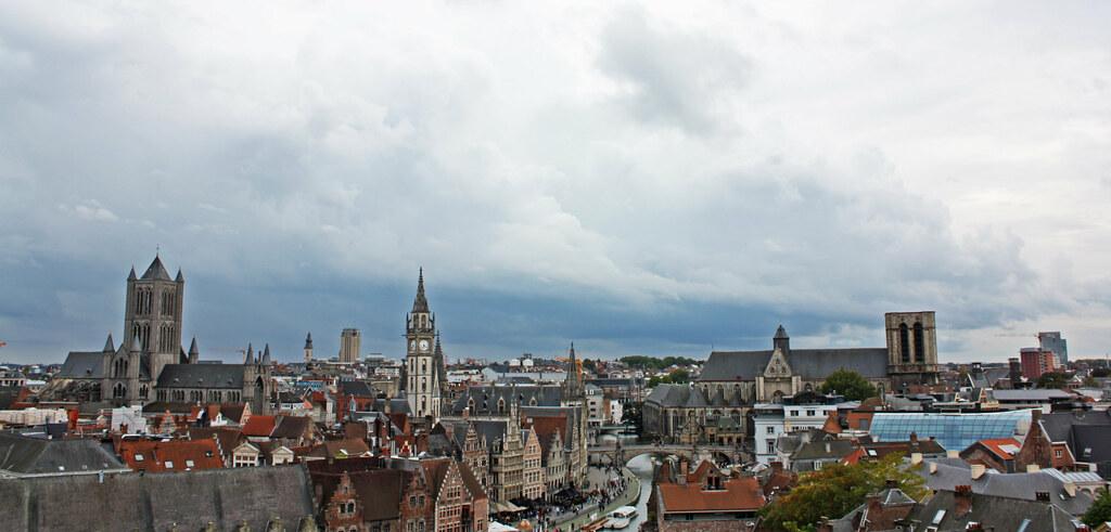 Panorámica de Gante desde el castillo de Gravensteen