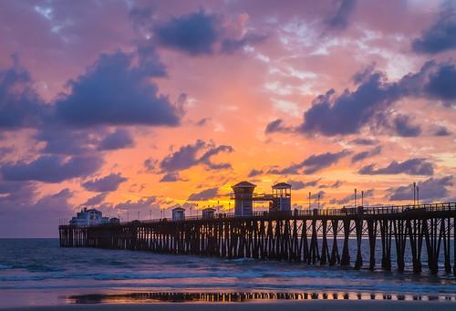 california sunset clouds pier unitedstates cloudy oceanside