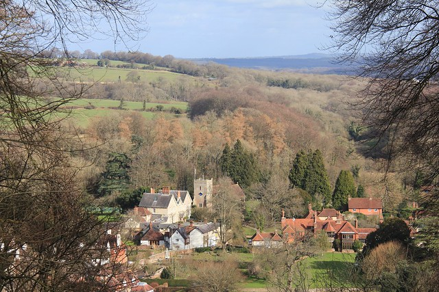 The village of Selborne seen from the Zig-Zag path.