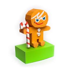 วิธีทำโมเดลกระดาษตุ้กตาคุกกี้รัน คุกกี้ผู้กล้าหาญ แบบที่ 2 (LINE Cookie Run Brave Cookie Papercraft Model Version 2) 025