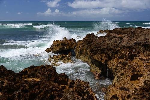 ocean blue water landscape photography hawaii lava coast photo nikon waves photographer pacific oahu photos north scenic photograph shore jagged splash haleiwa amateur rugged crashing junglejims splashing d600
