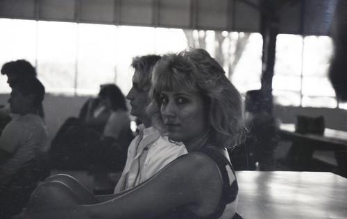 camp people blackandwhite bw nature river landscape outdoors texas candid tx country hill 80s blonde bandera medina 1989 1980s bandina
