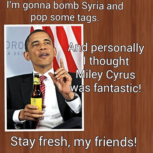 Obama on Syria and Miley Cyrus | by Jesse 1974