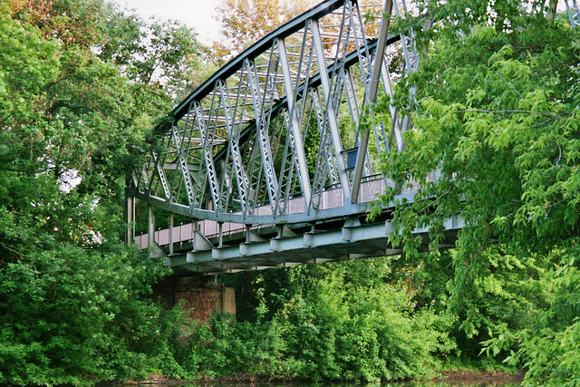 Hafenbahn Bridge in Halle (Saale), Germany