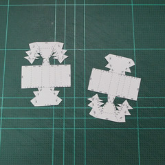 วิธีทำโมเดลกระดาษตุ้กตาคุกกี้รัน คุกกี้รสสตอเบอรี่ (LINE Cookie Run Strawberry Cookie Papercraft Model) 022