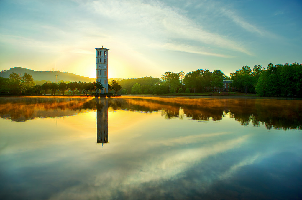 d7061f66e6b4e Furman University Bell Tower at sunrise | Picture Perfect at… | Flickr