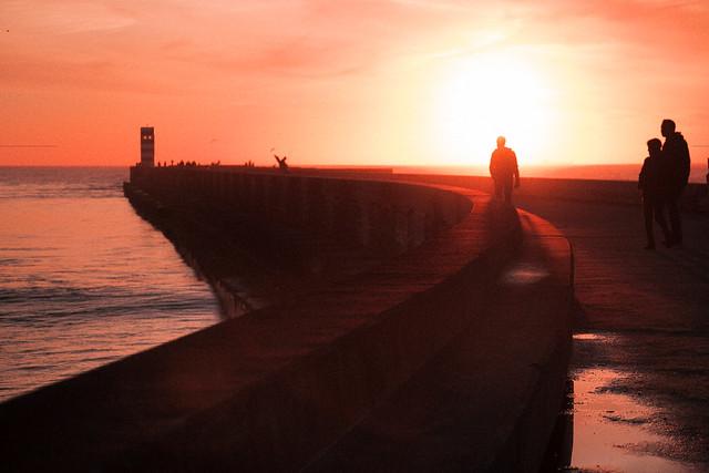 F5829 ~ man at sunset