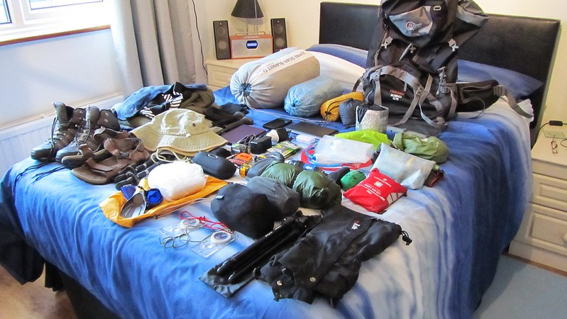 Sorting out my gear for the Bibbulmun Track